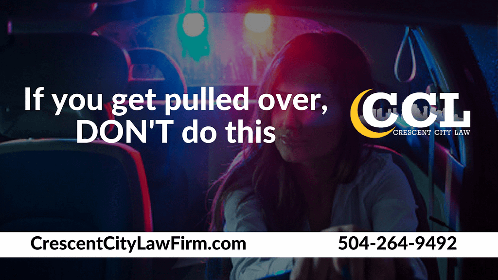 If you get pulled over, DON'T do this_ Crescent City Law